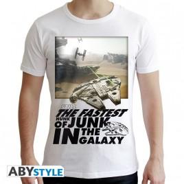 """STAR WARS - Tshirt """"Falcon Graphic"""" uomo SS bianco - nuova vestibilità"""