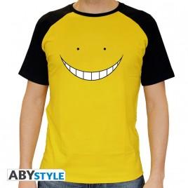 "CLASSE DI ASSASSINIO - Tshirt ""Koro smile"" uomo SS giallo - premium"