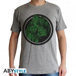 """MARVEL - Tshirt """"Hulk Smash"""" uomo SS sport grigio - basic"""
