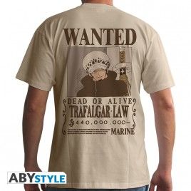 "ONE PIECE - Tshirt ""Wanted Trafalgar Law"" uomo SS sand - basic"