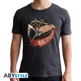 "OVERWATCH - Tshirt ""Roadhog"" uomo SS nero - nuova vestibilità"