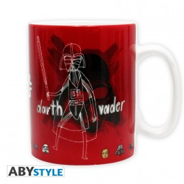 STAR WARS - Tazza - 460 ml - Sketchbook - con scatola x2