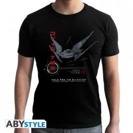 """STAR WARS - Tshirt """"Tie Silencer E8"""" uomo SS nero - nuova vestibilità"""