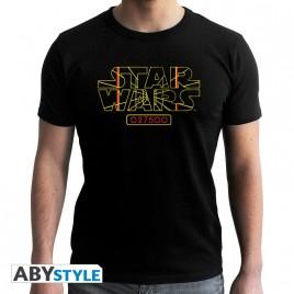 "STAR WARS - Tshirt ""Stay on Target"" uomo SS nero - nuova vestibilità"