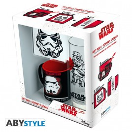 "STAR WARS - Pck Glass 29cl + Sottobicchiere + Mini Mug ""Trooper"""