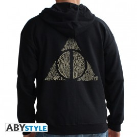 "HARRY POTTER - Felpa con cappuccio - ""Deathly Hallows"" uomo Nero"