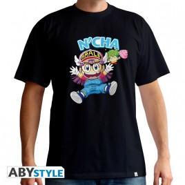 "DR SLUMP - Tshirt ""Arale & Gacchan"" uomo SS nero - basic"