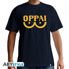 "ONE PUNCH MAN - Tshirt ""Oppai"" uomo SS navy - basic"