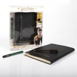 HARRY POTTER - Diario di Tom Riddle's Notebook e penna invisibile a bacchetta