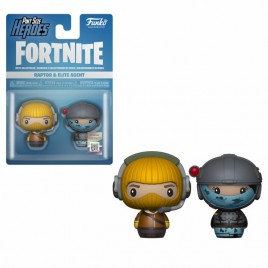 FORTNITE - POP!  Pint Sized!  Vinile: Raptor ed Elite Agent