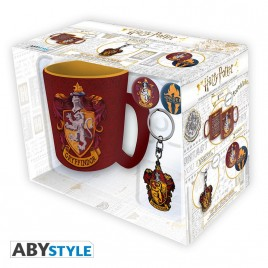 "HARRY POTTER - Tazza Pck + portachiavi + badge ""Grifondoro"""