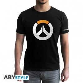 "OVERWATCH - Tshirt ""Logo"" uomo SS nero - nuova vestibilità"
