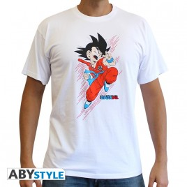 "DRAGON BALL - Tshirt ""DB / Goku young"" uomo SS bianco - basic"