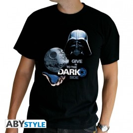 "STAR WARS - Tshirt ""Dark Side"" uomo SS nero - basic"