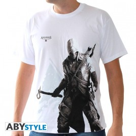 "ASSASSIN'S CREED - Tshirt ""Connor stand up"" uomo SS bianco - basic"