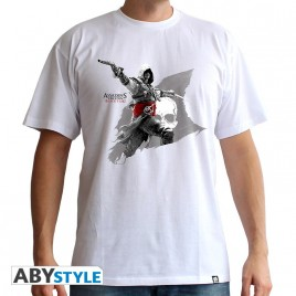 "ASSASSIN'S CREED - Tshirt ""Edward Flag"" uomo SS bianco - basic"