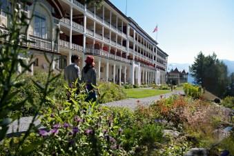 Swiss Historic Hotel Schatzalp überhalb von Davos