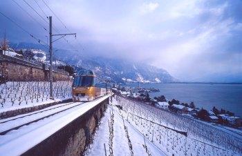 GoldenPass Line im Winter