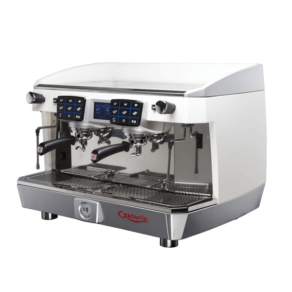 Astoria Core 2 Group SAE2 TS. Automatic and Touch Screen. Espresso Machine. Angled View.