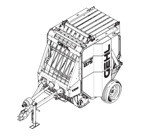 Tractor And Hay Baler Coloring Pages Sketch Coloring Page