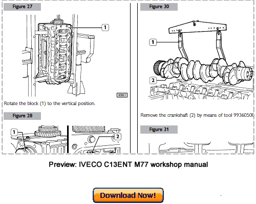 IVECO Cursor C13 ENT M77 Workshop Repair Manual Download