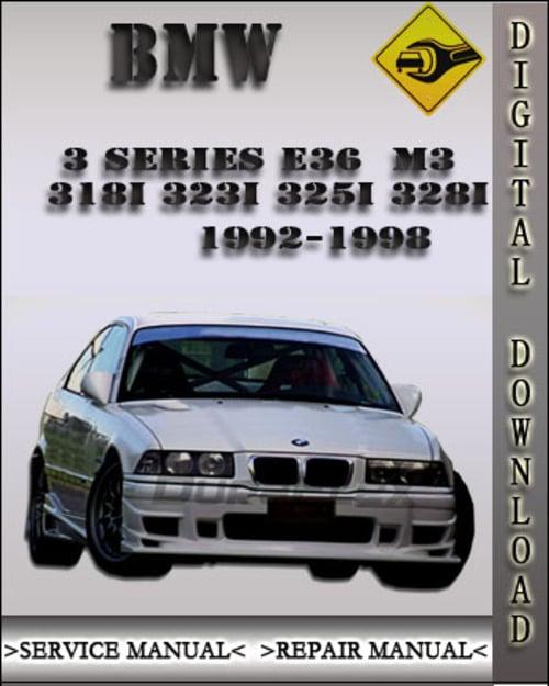 1998 Bmw 325i : 1992-1998, Series, Factory, Service, Repair, Manual, Tradebit