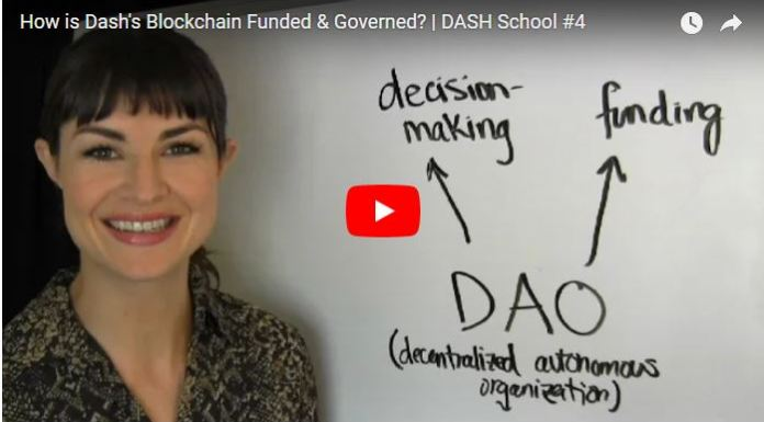 How is Dash's Blockchain Funded & Governed, DASH School 4