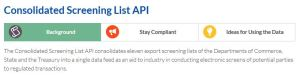 ITA's CSL application programming interface (API)