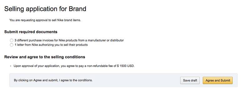 Amazon Brand Gating application
