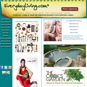 everydayliving.com home page for Everyday Living website