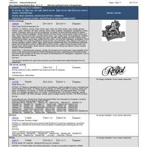 ROYAL Nuans Trademark Search Report