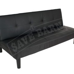 Big Save Sofa Bed In Stock Sofas Modern Couch 1 7m Black Pvc Trade Me