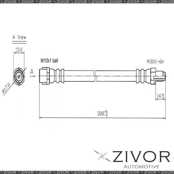 Hydraulic Hose-Rear For MERCEDES BENZ 420SEL W126 4D Sdn