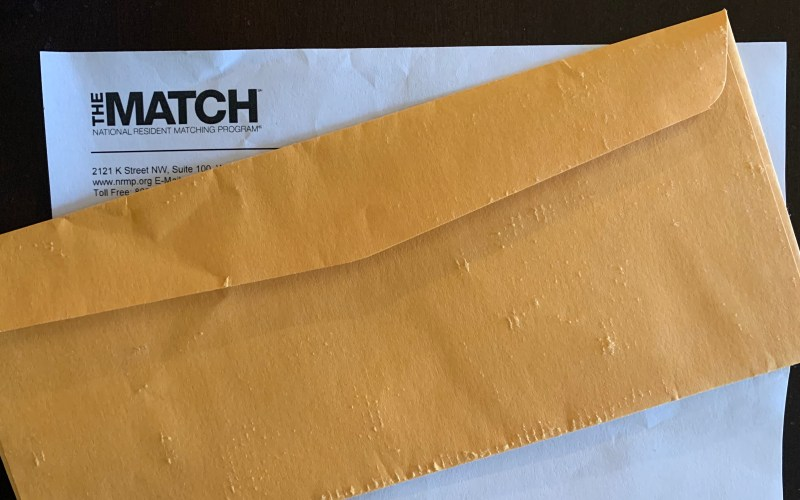 Match Day envelope