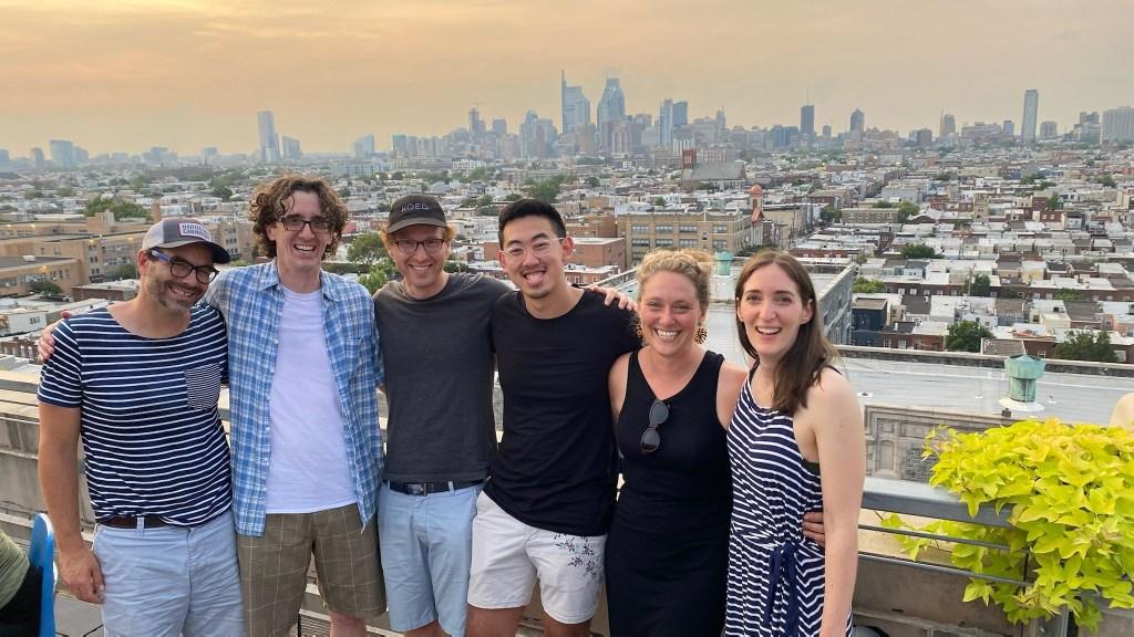 Tradeoffs team with Philadelphia skyline behind
