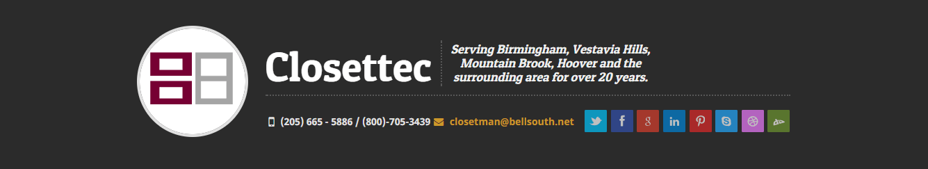 Birmingham Builders and Construction, Closettec, Custom Storage Design