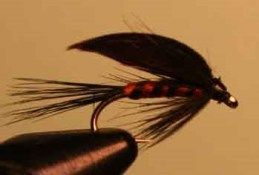 black & orange wet fly is a fantastic wet to fish mid-depth in flowing streams