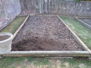 vegetable garden bed 1 was the first vegetable be I made in 2011