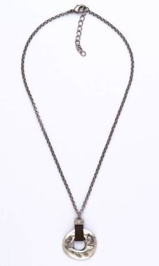 """Handmade necklace with sterling silver plated base metal. Made in Spain. Designed by Haim Shahar. Lead and nickel free. Men's size 19."""" https://www.tradesbyhaimshahar.com/mens-collection/qn212-detail"""