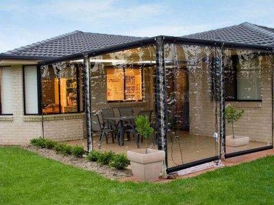 outdoor patio blind clear pvc 240 x 240cm