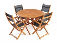 Mansfield Outdoor Dining Set Round 4-Seater - Dining Sets ...