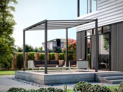 freestanding patio cover 3m x 3m ironsand