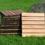Outdoor Wooden Deck Tiles 6 Slat Pack Of 12 Outdoor Deck Tiles Outdoor Decor Home Outdoor Living Trade Tested