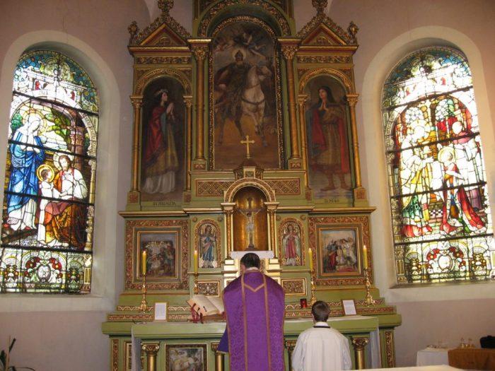 Misa po tradicionalnom rimskom obredu u zagrebačkoj crkvi sv. Martina.