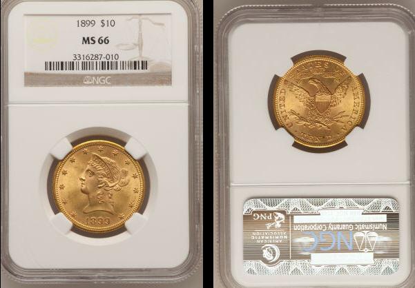 1899 $10 MS 66-1