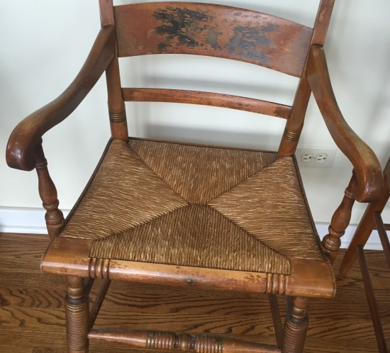 ladder back cane seat dining chairs fishing chair with shade trading treasures  