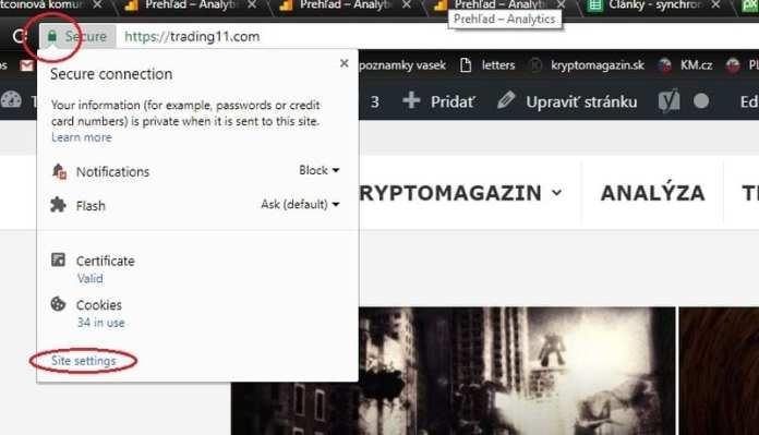trading11 notifikacie navod