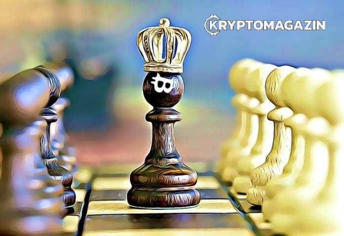 Bitcoin je král! Akcie a zlato padají a BTC na novém maximu