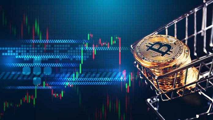 btc bitcoin kryptoměny coin mince graf