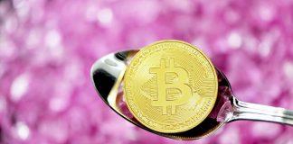 Bitcoin BTC a lžička